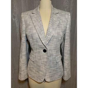 Tahari Black & Ivory Tweed Jacket Size 10